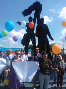 Für unsere und Eure Freiheit! Flashmob zum KyivPride.